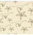 Lufengosaurus seamless retro vector image vector image