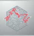 maze icon vector image vector image