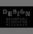 minimalistic font - modern futuristic vector image vector image