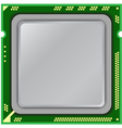 modern computer processor vector image vector image