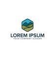 modern mountain meadow logo design concept vector image vector image