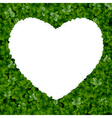 Nature background with heart vector image