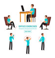office exercises info set vector image
