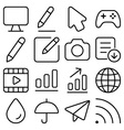 outline ui pack9 vector image
