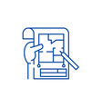 planning line icon concept planning flat vector image vector image