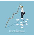 Profit increase concept