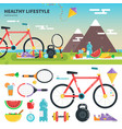 recomendations for healthy lifestyle vector image