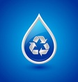 Recycled water drop icon vector image vector image
