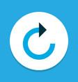 refresh right icon colored symbol premium quality vector image