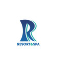 resort and spa icon for beauty salon hotel design vector image