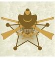 Sheriffs badge-3 vector image vector image