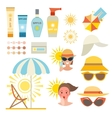 Skin sun protection cancer body prevention vector image vector image