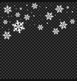 snow and snowflakes pattern vector image vector image