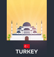 travel poster to turkey flat vector image vector image