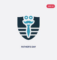 two color fathers day icon from united states of vector image