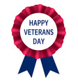 veterans day emblem logo realistic style vector image vector image