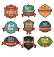 vintage label sets vector image