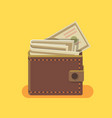 wallet with dollars vector image vector image