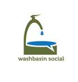 washbasin social concept vector image