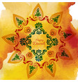 watercolor diwali background vector image vector image