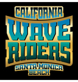 Wave riders t shirt typography graphics gold