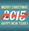 2015 Vintage New Year Calendar vector image