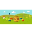Honey Apiary Conceptual in Flat Style vector image