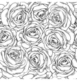 seamless background Roses hand-dra vector image