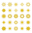 golden sparks and sparks elements and symbols vector image