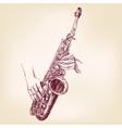 saxophone hand drawn llustration vector image