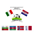 2016 SOCCER CHAMPIONSHIP GROUP H QUALIFYING DRAW vector image vector image
