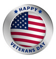 american veterans day logo realistic style vector image vector image