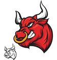 Angry bull head vector image vector image