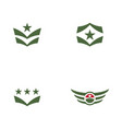 army military icon vector image vector image