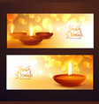 awesome set of diwali festival banners with vector image vector image
