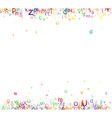 Background with letters vector image vector image
