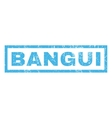 Bangui Rubber Stamp vector image vector image