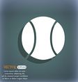 baseball icon On the blue-green abstract vector image vector image