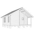 bath house project vector image vector image