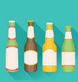 beer in flat style with long shadow vector image vector image