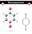 Benzoquinone vector image vector image