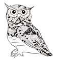 black-and-white owl vector image vector image