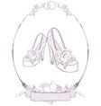 Bride wedding shoes vector image