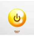 Bright power button vector image vector image