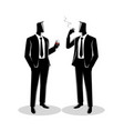 businessmen casually talking with each other vector image vector image