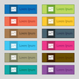 Chart icon sign Set of twelve rectangular colorful vector image