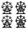 collection park ferris wheels vector image vector image