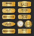collection sale and premium choice golden vector image vector image
