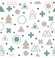 Colorful geometric seamless pattern Abstract vector image vector image