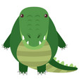 crocodile with round body vector image vector image